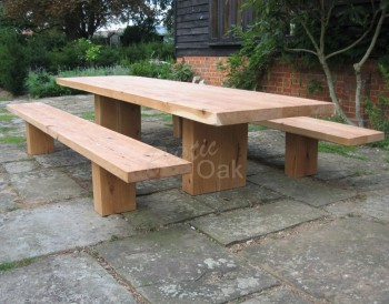 Rustoc Oak beam table benches